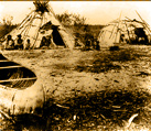 Mushkegowuk and Anishnaabe style camp