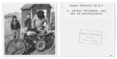 non-Cree person with motorcycle