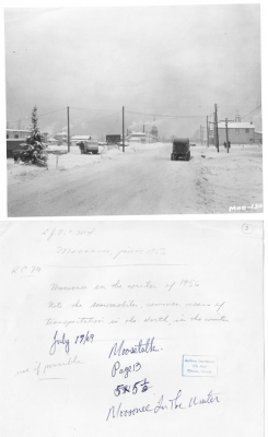 Moosonee in the winter during the 1950s